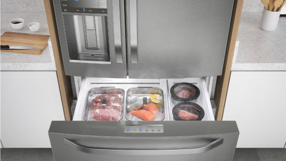Cajón Flexispace con el refrigerador Advantage Plus 7790