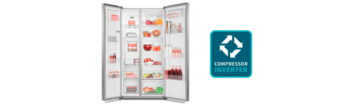 Consumo inteligente de energía con el refrigerador Side by Side SFX500