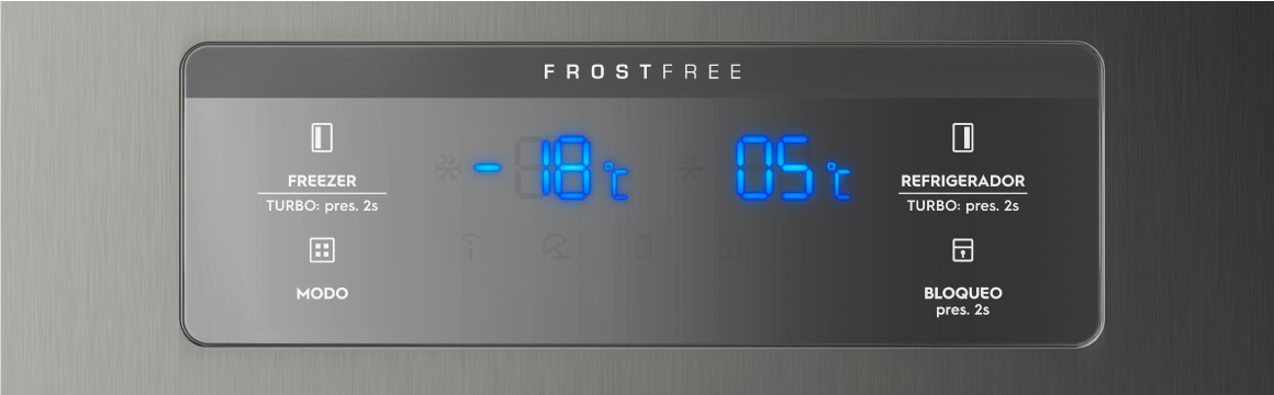 Panel Blue Touch con el refrigerador Side by Side SFX500