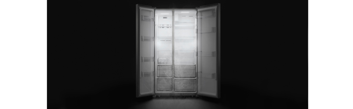 Mejor visibilidad interior con el refrigerador Side by Side SFX500