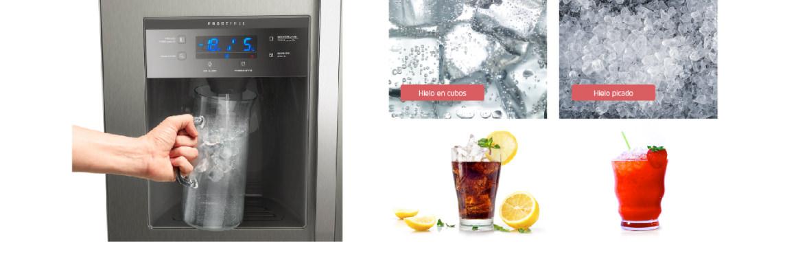 Dispensador de agua con el refrigerador Side by Side SFX550