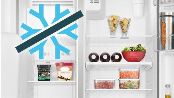 Tecnología Frost Free con el refrigerador Side by Side SFX550