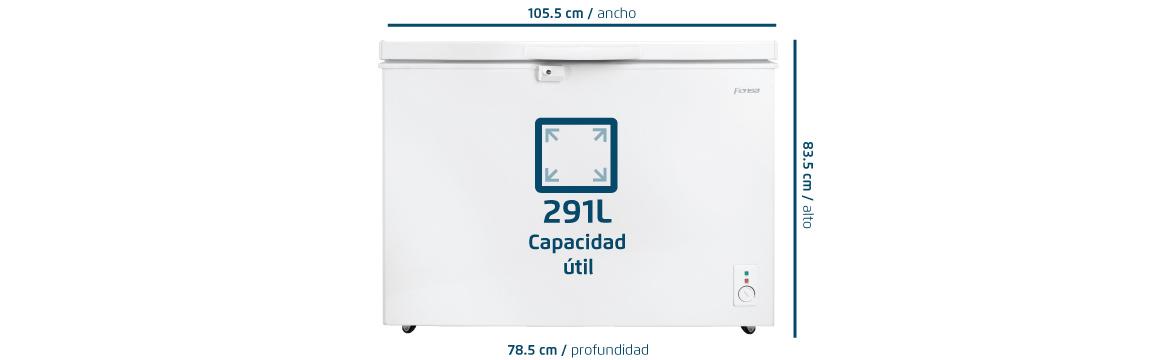 Capacidad útil de 291 L con el freezer FFH Z300