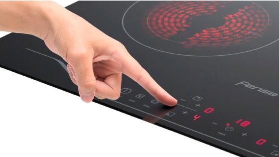 Control touch con la Encimera FEV 4T
