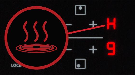 Indicador de calor residual con la Encimera FEV 4T