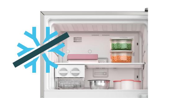 Sistema Frost Free con el Refrigerador Advantage 5700E
