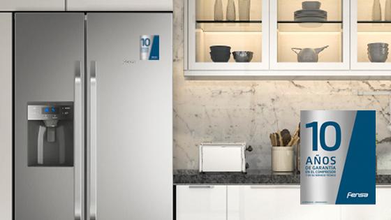 10 años de garantía con el refrigerador SFX550